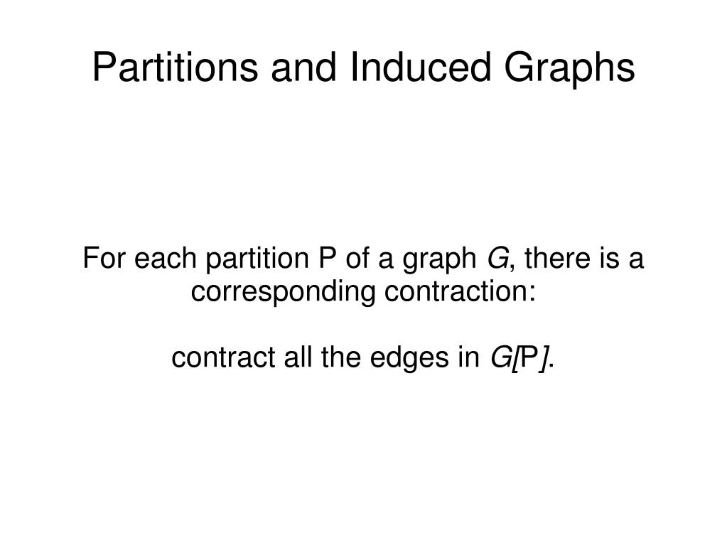 For each partition