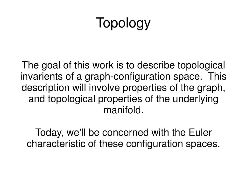 The goal of this work is to describe topological invarients of a graph-configuration space.  This description will involve properties of the graph, and topological properties of the underlying manifold.