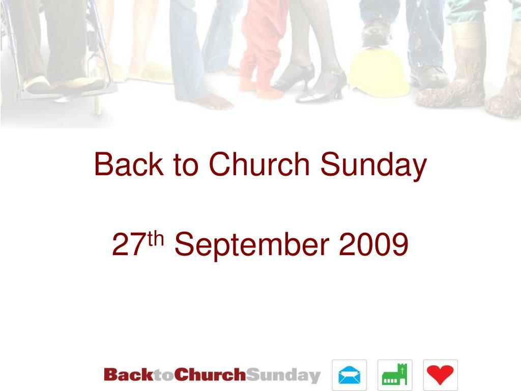 back to church sunday l.
