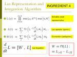 lax representation and integration algorithm