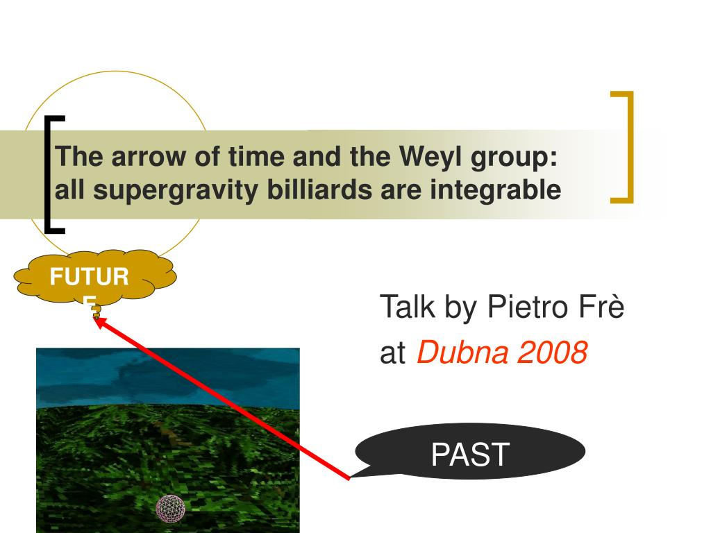the arrow of time and the weyl group all supergravity billiards are integrable l.