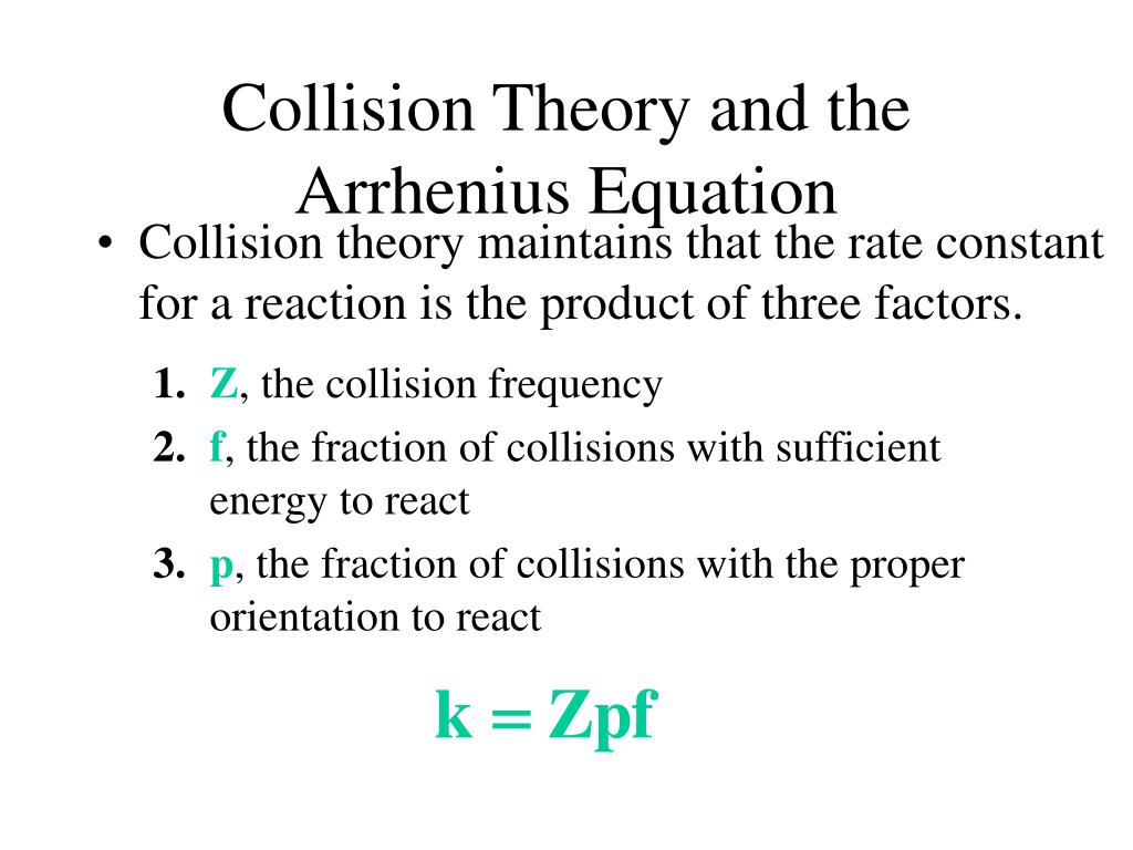Collision Theory and the Arrhenius Equation