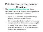 potential energy diagrams for reactions23