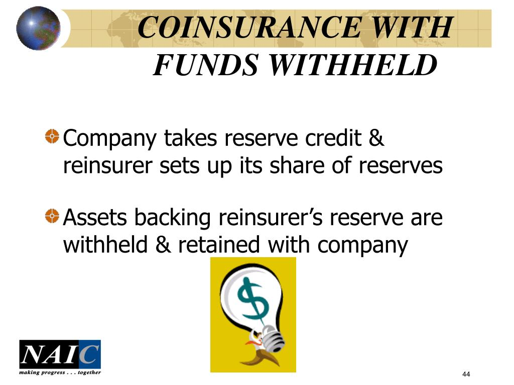 COINSURANCE WITH FUNDS WITHHELD