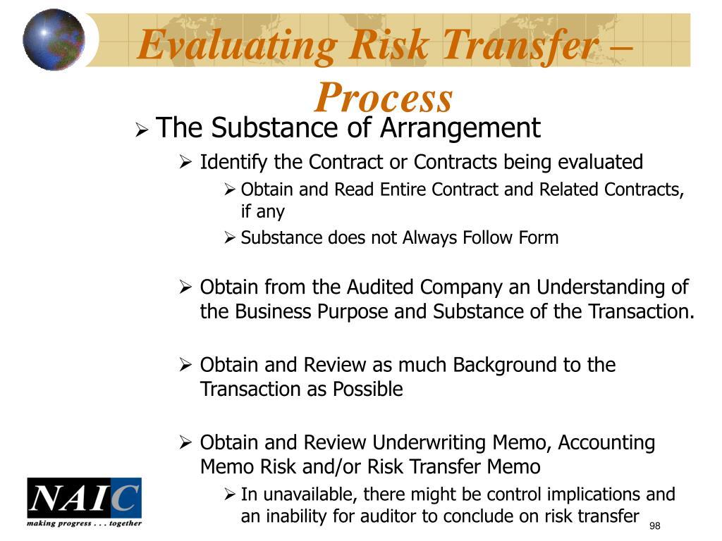Evaluating Risk Transfer – Process