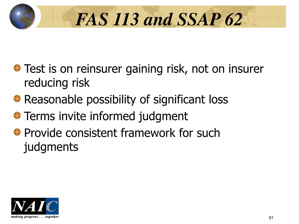 FAS 113 and SSAP 62