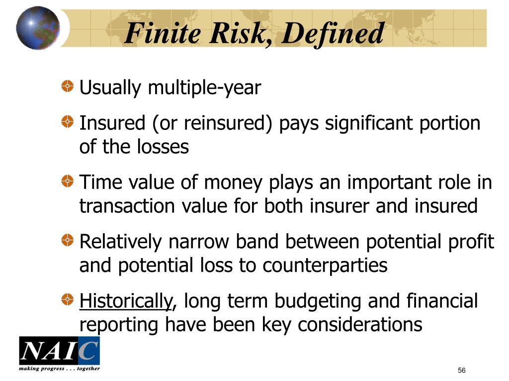Finite Risk, Defined