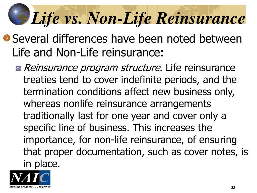 Life vs. Non-Life Reinsurance