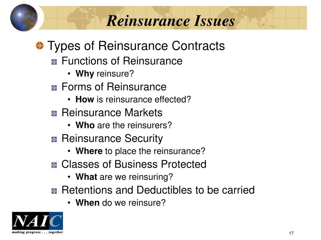 Reinsurance Issues