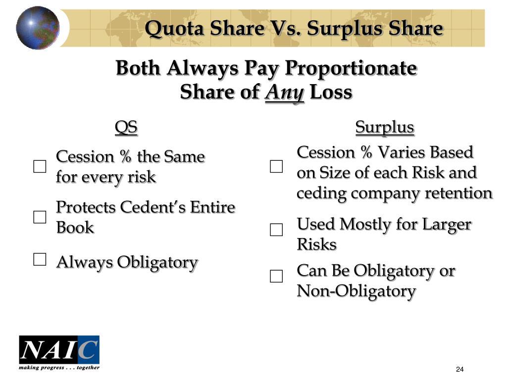 Quota Share Vs. Surplus Share
