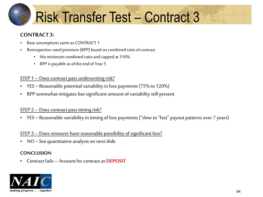 Risk Transfer Test – Contract 3