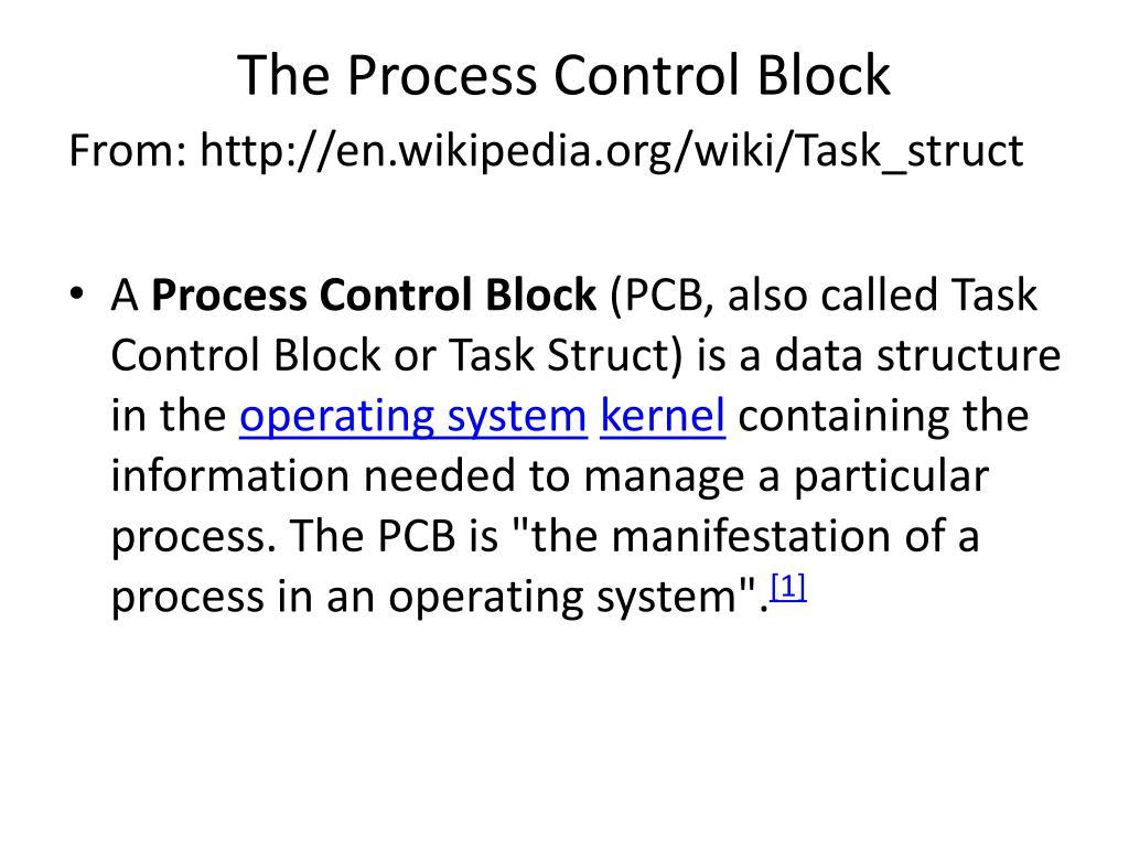 the process control block l.