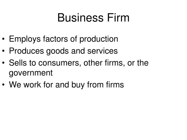 Business firm