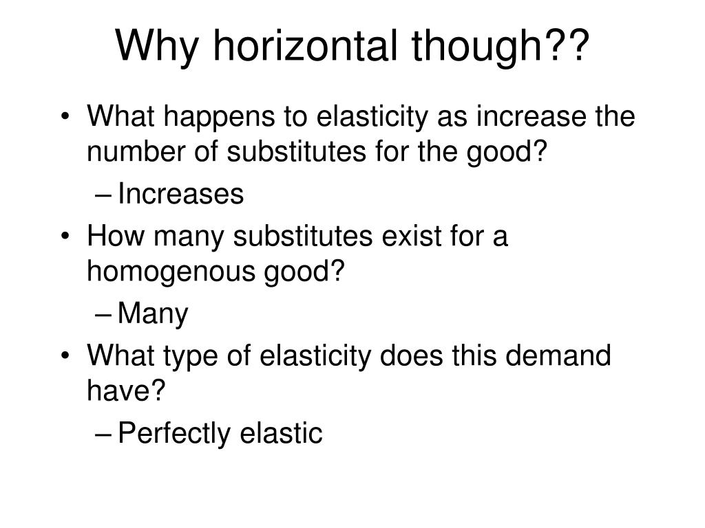 Why horizontal though??