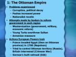 1 the ottoman empire