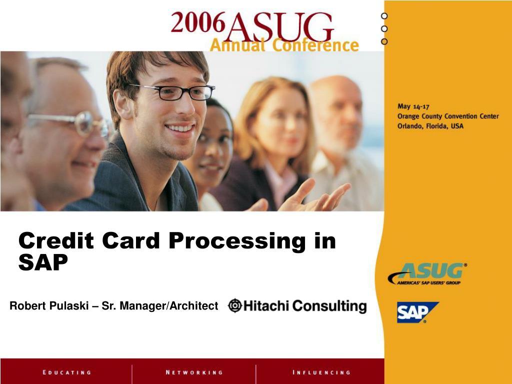 credit card processing in sap l.