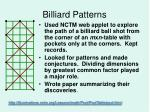 billiard patterns