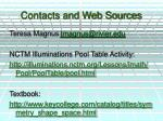 contacts and web sources
