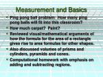 measurement and basics