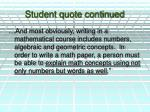 student quote continued