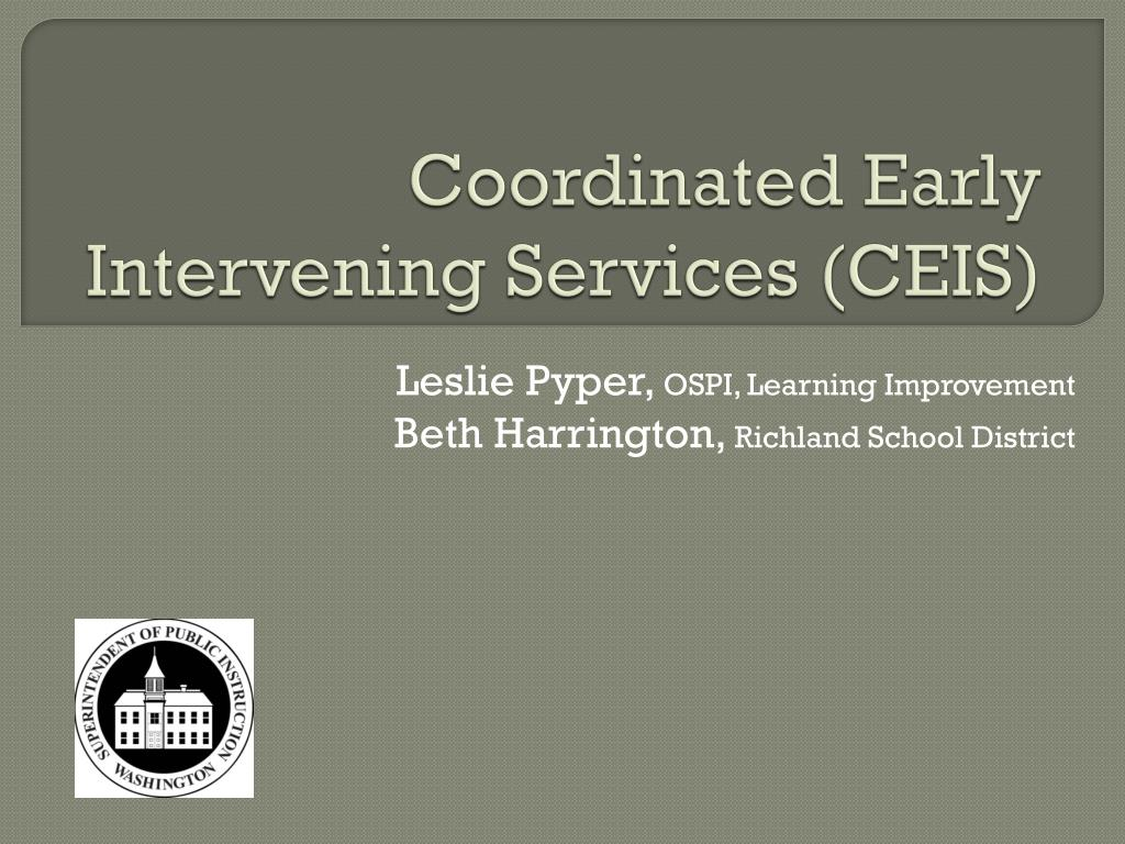 coordinated early intervening services ceis l.