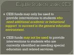 eligible students under ceis