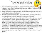 you ve got history