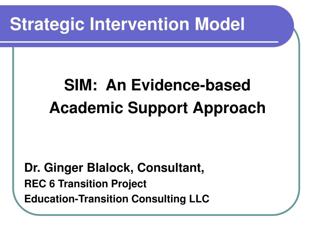 strategic intervention model l.