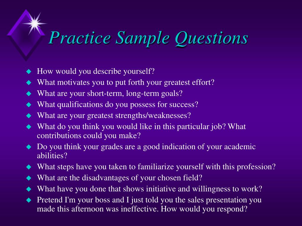 Practice Sample Questions