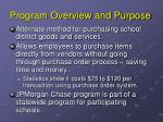 program overview and purpose