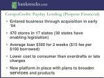 compucredit payday lending purpose financial