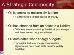 a strategic commodity