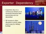 exporter dependency