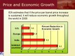price and economic growth