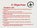 3 objectives