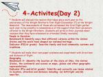 4 activites day 2