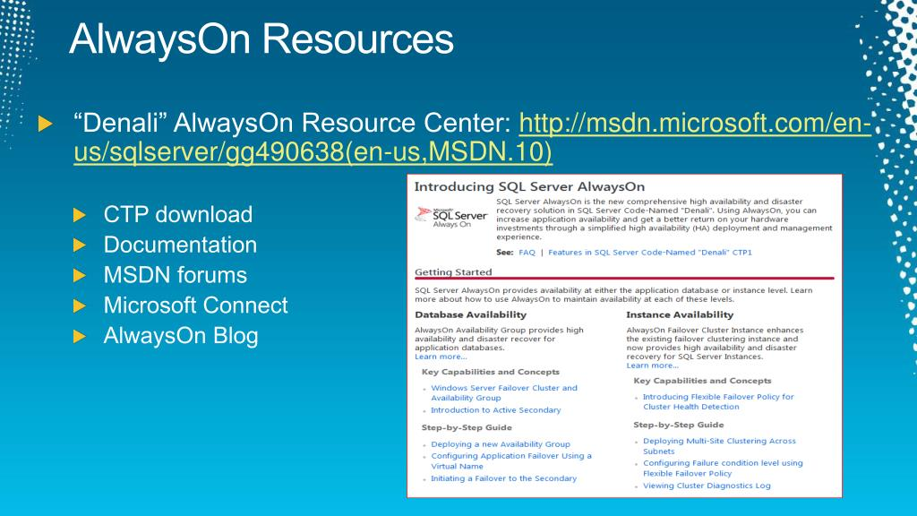 AlwaysOn Resources
