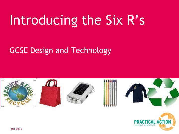 introducing the six r s n.