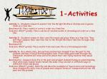 1 activities