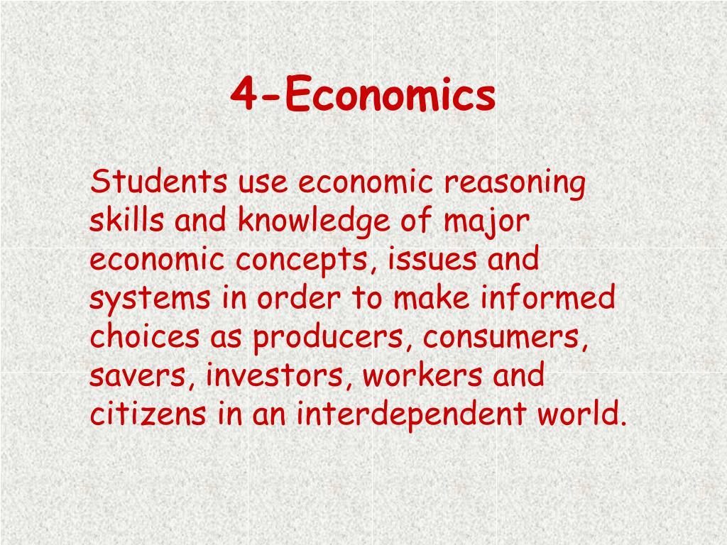 economics reasoning