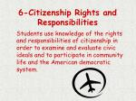 6 citizenship rights and responsibilities