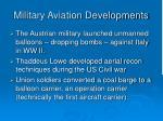 military aviation developments