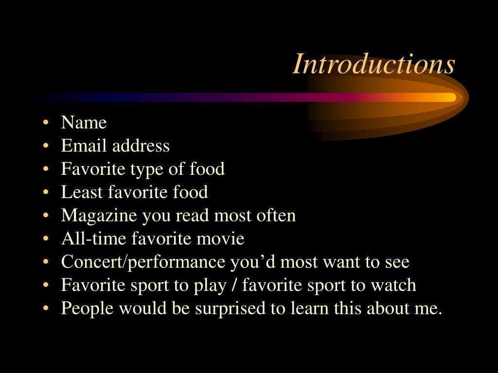 introductions l.