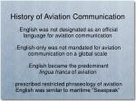 history of aviation communication
