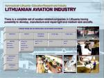 aeronautics in lithuania education research and industry lithuanian aviation industry