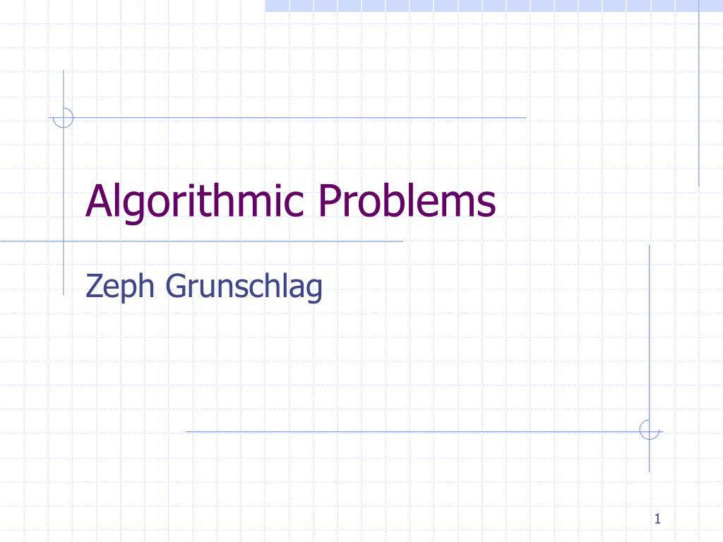 algorithmic problems l.
