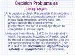 decision problems as languages11