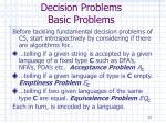 decision problems basic problems