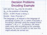 decision problems encoding example
