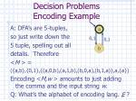 decision problems encoding example23